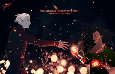 fire of a thousand suns by Jenova-Meteora