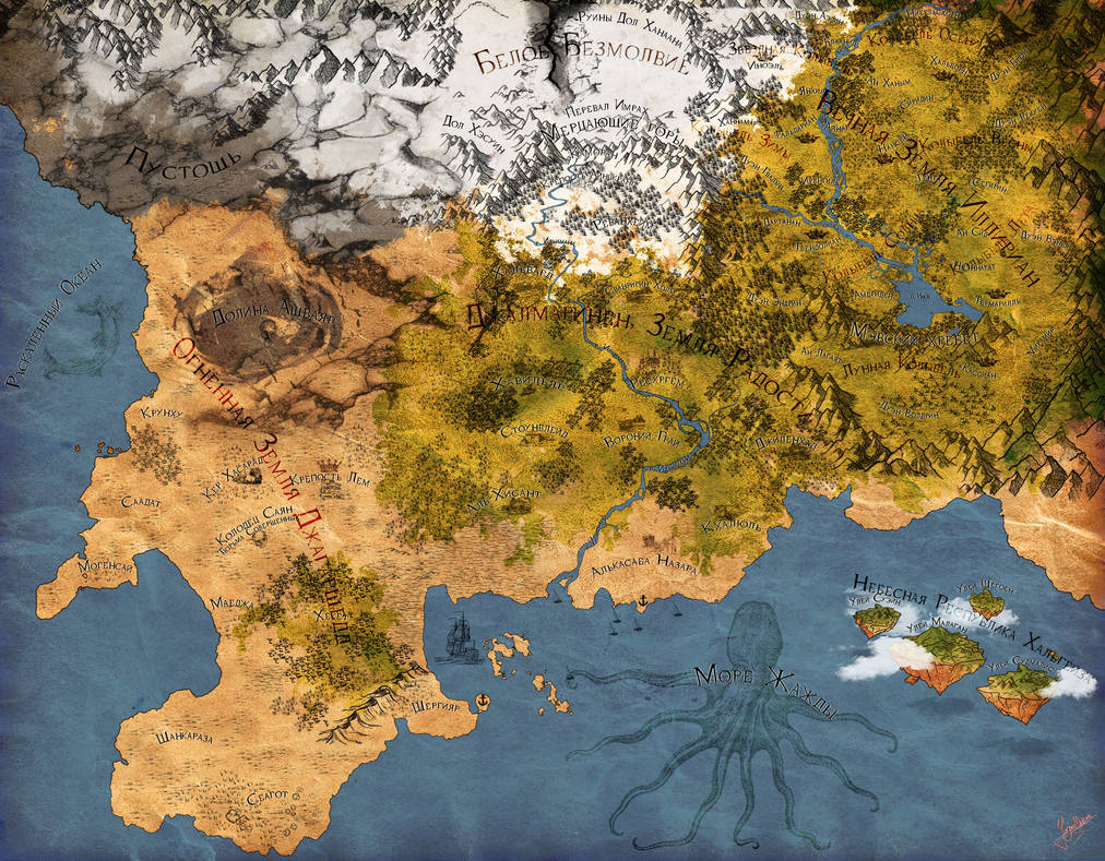 The World-without-End map by Jenova-Meteora