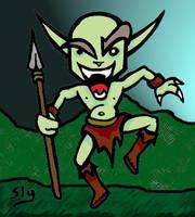 Chibi Goblin by slyvenom