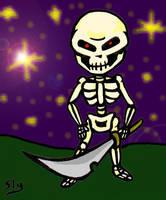 Chibi Skeleton by slyvenom