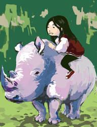 Rhino by wildicebell
