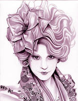 Effie Trinket  The Hunger Games  Magenta by TheNightGallery