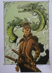 Steel raising Dragon  by Solanum80
