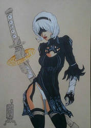 2B from Nier:Automata  by Solanum80