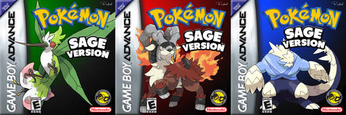 Pokemon Sage Fanmade GBA Cover Arts by RapBR123