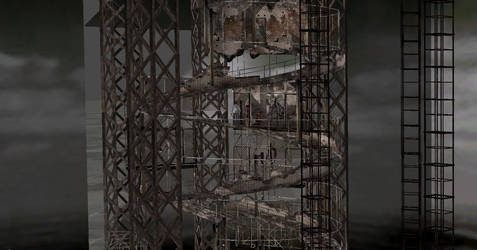 Silent hill 4 spiral staircase by roocker666