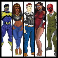 The Main Cast of They Call Him: Marvelous by JJStudioComics