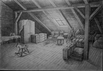Attic, storeroom by Ewwwa