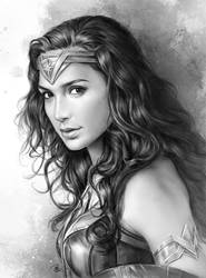 Wonder Woman Sketch by JohnLaw82