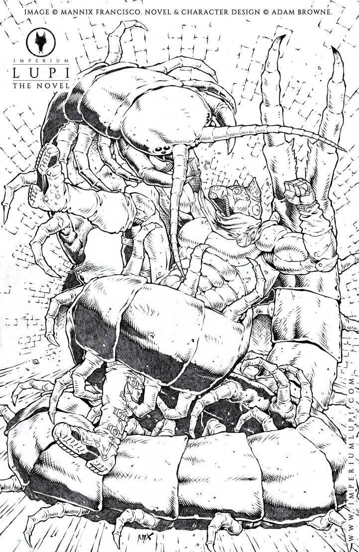 Rafe VS the Sewer Centipede (by Mannix) by Imperiumlupi