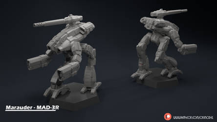 Marauder - MAD-3R Miniature Sculpt by Sentinel373