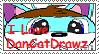 I Love DanCatDrawz Stamp by DanCatDrawz