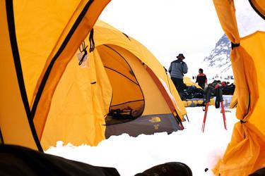 Yellow tents by swordart