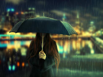 .. deszcz .. by BaxiaArt