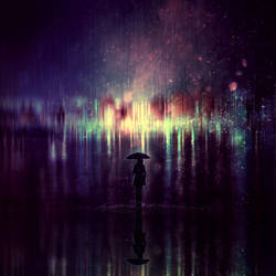 Lonely Rain by BaxiaArt
