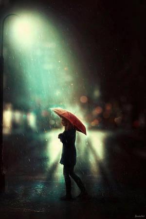 Walking in the Rain by BaxiaArt