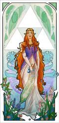 Zelda: art nouveau by Neddea