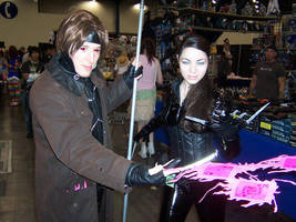 Lady Deathstrike and Gambit by LanaMarieLive