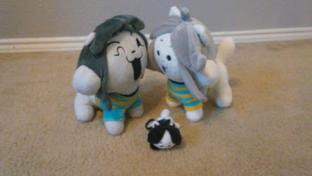 My Temmie Plushies by MadcapLovesVore