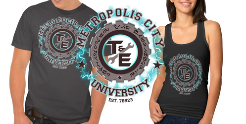- Metropolis University Shirt Design - by sonicwindartist