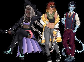 Halloween trio by beblue
