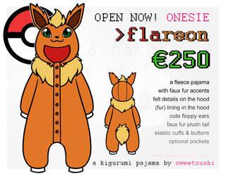 Kigurumi Pajama Concept Design - Flareon by Bathsua