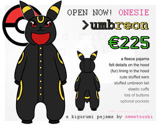 Kigurumi Pajama Concept Design - Umbreon by Bathsua
