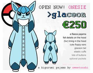 Kigurumi Pajama Concept Design - Glaceon by Bathsua