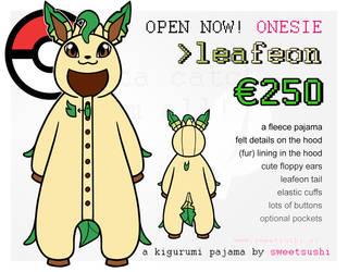 Kigurumi Pajama Concept Design - Leafeon by Bathsua