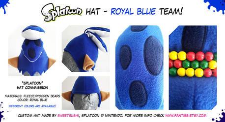 Splatoon Boy Hat - Royal Blue Team! renewed by Bathsua