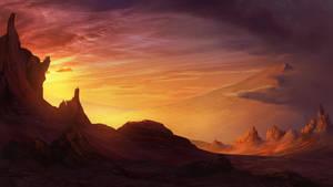 Arid Desert Landscape by CreeperMan0508