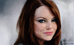 Emma Stone by Oephy