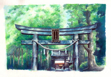 Torii - Nikko Futarasan Shrine by sherrae78