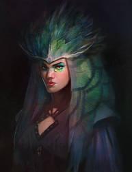 Fantasy portrait by T-razz