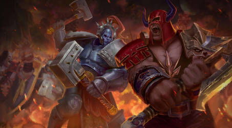 Gamesworkshop: Tempest lords VS bloodbounds by T-razz
