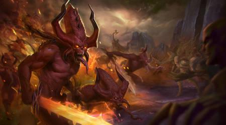 Gamesworkshop: Bloodletter VS chaos warriors by T-razz