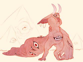 sketched my own gremlin boi  (0001) by tomoburd