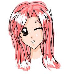 Pink Haired Girl by tenshinosoranouta