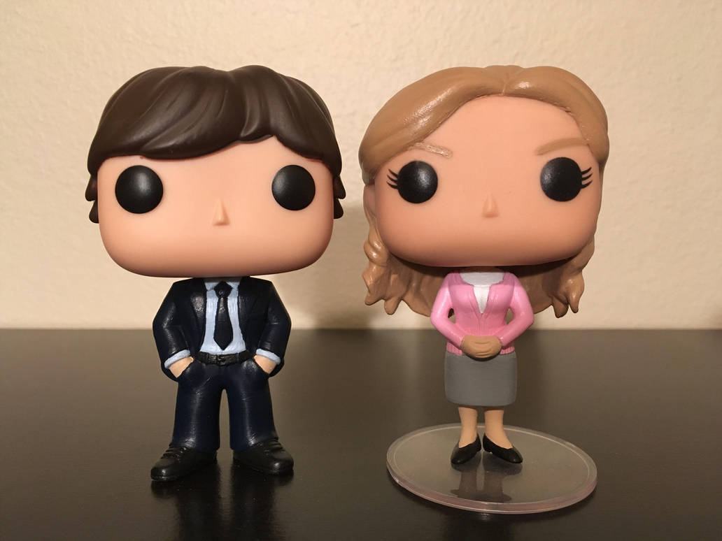 Office pop Colour Jim And Pam From The Office Custom Funko Pops By Numairsalmalin Deviantart Jim And Pam From The Office Custom Funko Pops By Numairsalmalin On