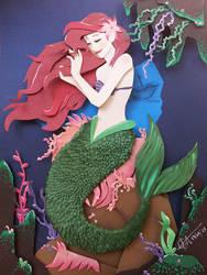 The Little Mermaid In cut Paper by RaphaelOda