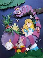 Alice in worderland in paper cutting by RaphaelOda