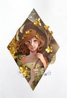 nymph in cut paper by RaphaelOda