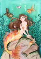 Mermaid in cut paper by RaphaelOda