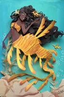 dragon mermaid by RaphaelOda