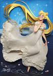 Princess Serenity in Cut paper by RaphaelOda