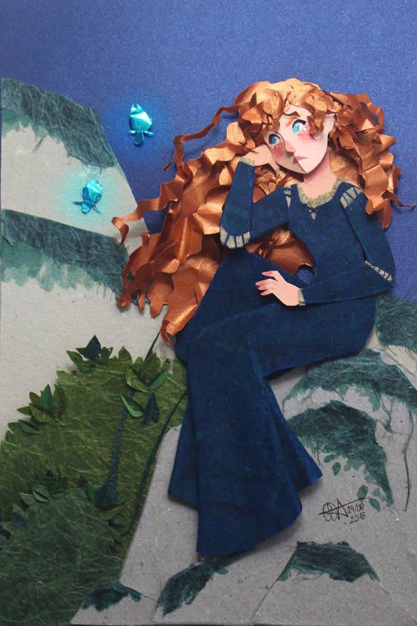 Princess Merida In paper Cut by RaphaelOda