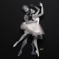 Ballet in paper by RaphaelOda