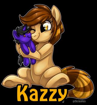 Sciggles Kazzy Badge by KazzysPlushEmporium