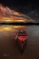 Red boat by michalmotyka