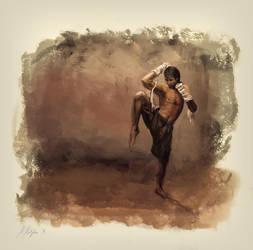 Muay Thai Fighter by michalmotyka